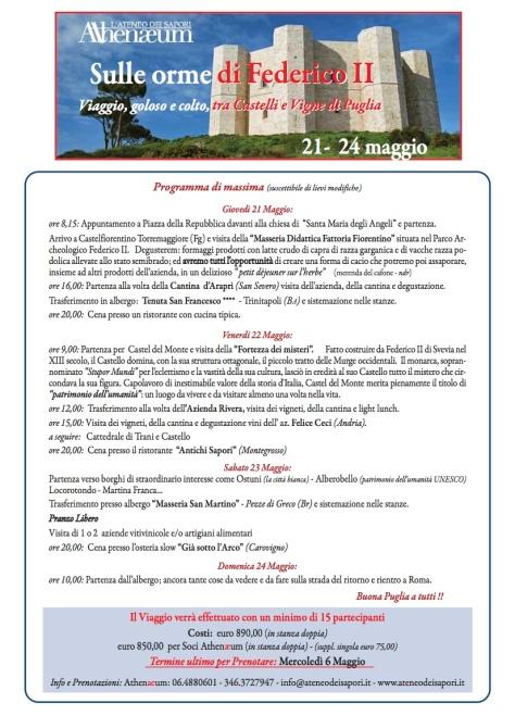 Programma Viaggio Puglia